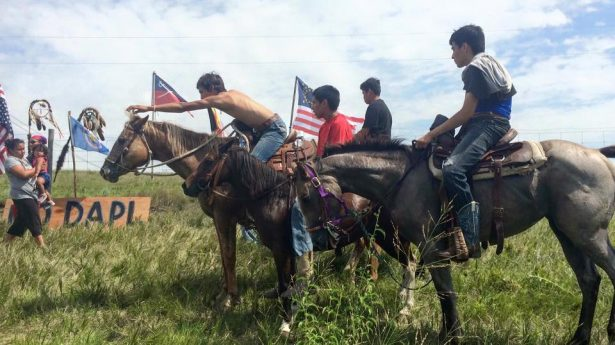 Standing Rock Sioux at the Camp of the Sacred Stones. (Facebook / Camp of the Sacred Stone)