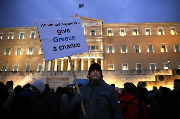 An anti-austerity protest in front of the parliament in Athens. | Photo: Reuters