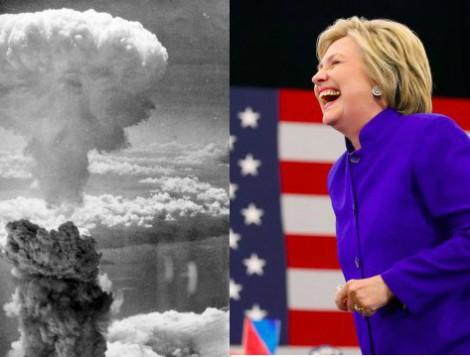 hillary nuclear war media