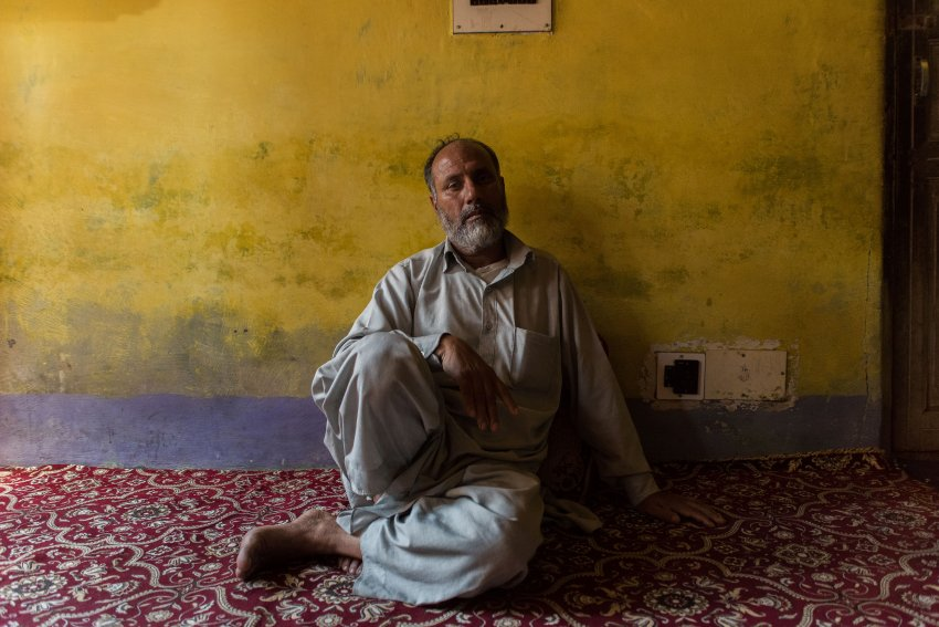 Abdul Salaam Sheikh at his home in Kashmir. His 15-year-old son was killed during a revolt against the Indian government in Jammu and Kashmir. Camillo Pasquarelli