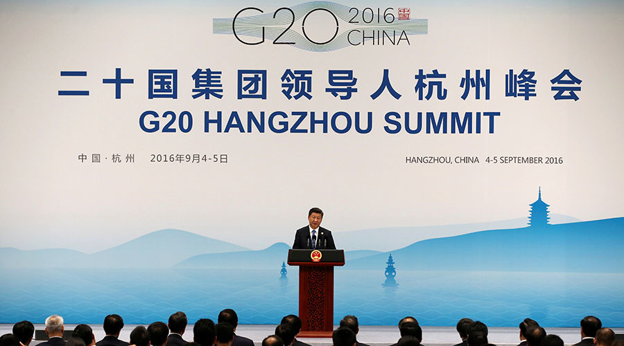 China's President Xi Jinping speaks at a news conference after the closing of G20 Summit in Hangzhou, Zhejiang Province, China, September 5, 2016. © Damir Sagolj / Reuters