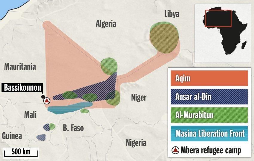 Areas of the Sahel under control of Islamist militias SPIEGEL ONLINE