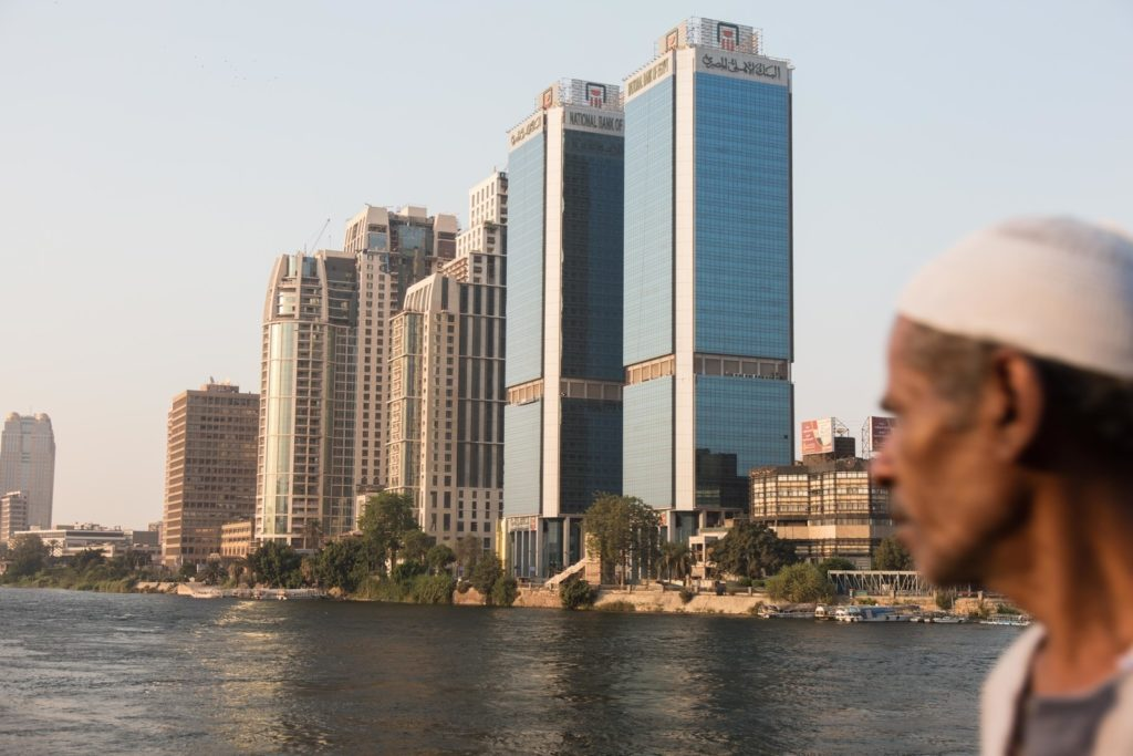 A man looks out on the Nile River. Sima Diab for BuzzFeed News