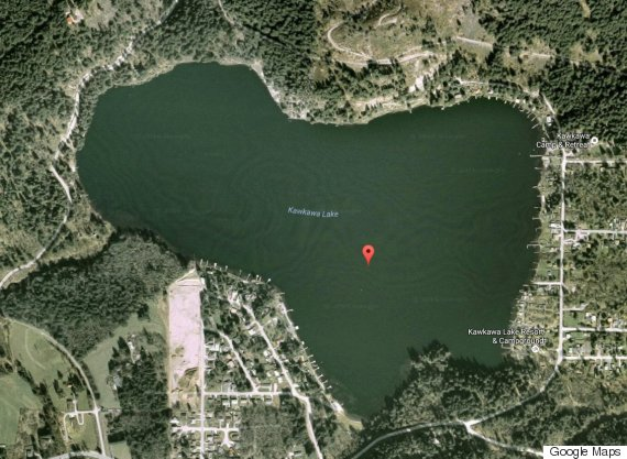 Nestlé draws water from close to Kawkawa Lake near Hope, B.C. (Photo: Google Maps)