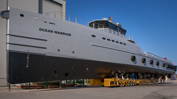 Sea Shepherd was able to specify engine size and other features for Ocean Warrior. Photo: Sea Shepherd