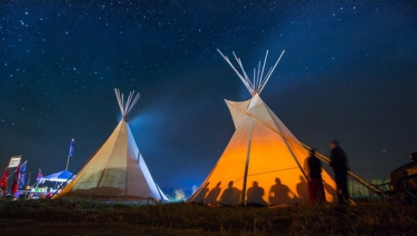 The #NoDAPL protesters will continue their fight in the coming months. Photo: Facebook / Tomas Karmelo Amaya