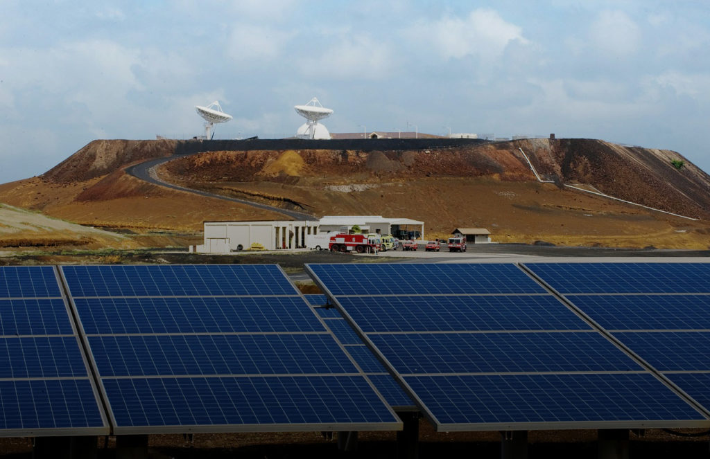 Ascension Island solar panels