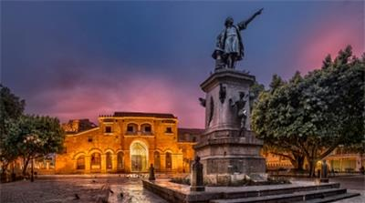 Columbus Statue and Cathedral at Colon Park in Santo Domingo, Dominican Republic [Getty]