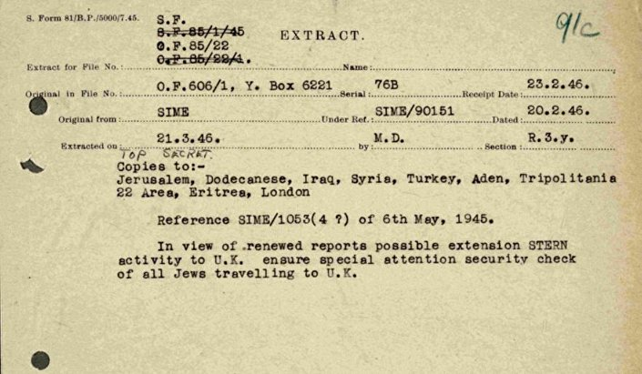 MI5 files released by the National Archives in London © Photo: National Archives