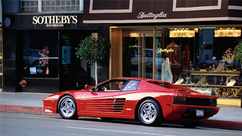 Ferrari on Rodeo Drive in Beverly Hills, California [Getty]