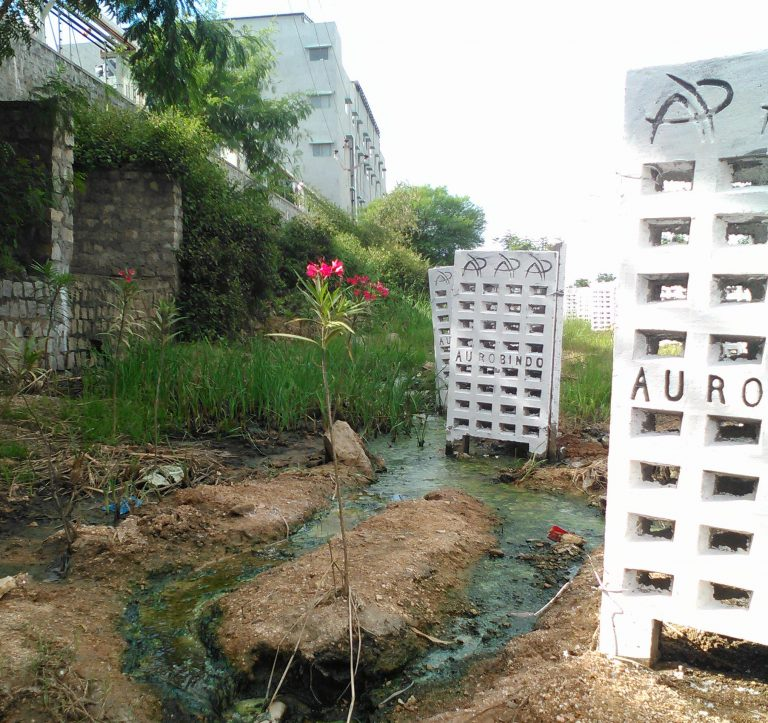 The Bureau visited the Aurobindo plant near Hyderabad this month and found pools of liquid still present outside the plant's perimeter.