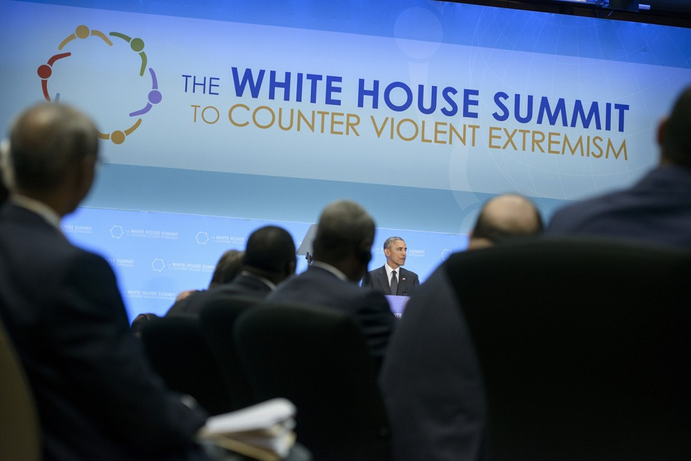 President Barack Obama speaks during the White House Summit on Countering Violent Extremism on Feb. 19, 2015, in Washington, D.C. Photo: Brendan Smialowski/AFP/Getty Images