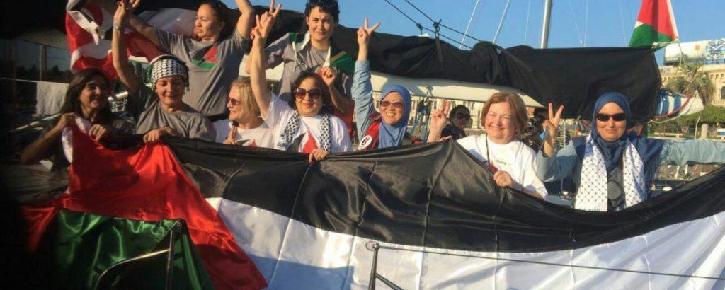 women-boat-gaza-freedom-flotilla-israel-blockade