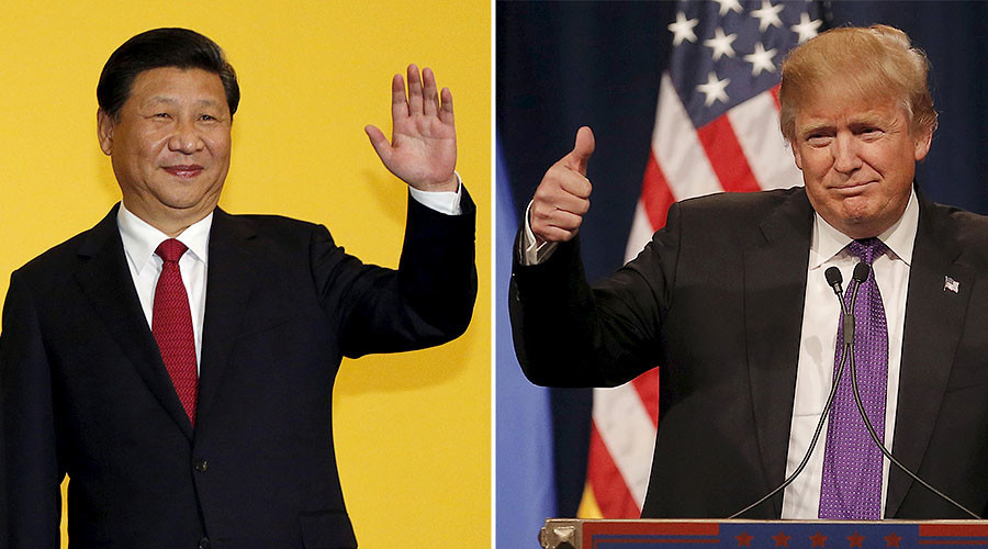 Chinese President Xi Jinping (L), U.S. president-elect Donald Trump (R). © / Reuters