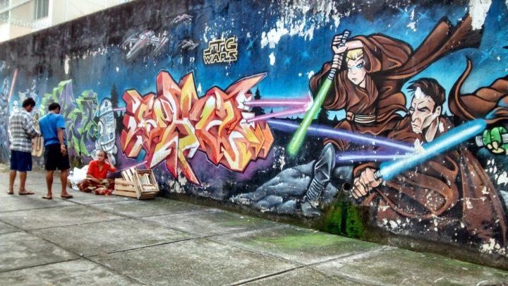 Graffiti brasilero. (Imagen de Pressenza)