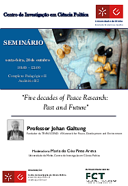 Galtung in Porto: Five decades of Peace Research